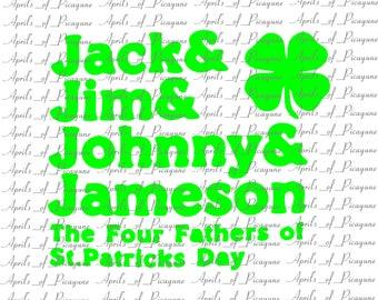 Four Fathers of St Patricks Day, St. Patrick's Day, SVG, DXF, PDF