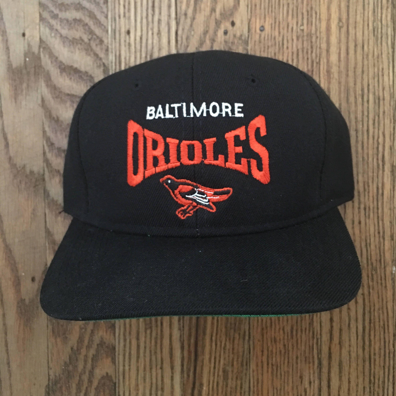 53b0dd9de2b Vintage 90s Baltimore Orioles MLB Snapback Hat Baseball Cap ...