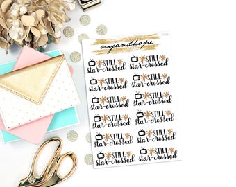 Still-Star Crossed TV Show Stickers | TT09 | Teeny Tiny Planner Stickers