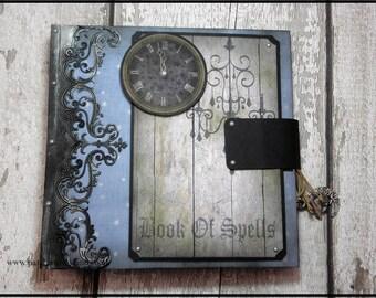 "Hand Made ""Book Of Spells"" Halloween Themed Memory Journal"