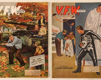 Vintage V. F. W. Magazine September and October 1961 - Military Veterans Of Foreign Wars Collectible Magazines.