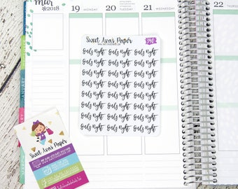 Girls Night Planner Stickers | Script Planner Stickers | Lettering Planner Stickers | List Planner Stickers | Fits Most Planners | 340