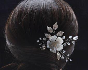 Wedding hair pins Bridal hair pins Flower hair pins pearl Wedding hairpin Pearl hair pins Wedding bobby pins Silver hair pins accessories