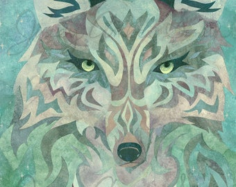 The Wolf - Mixed media fine art print