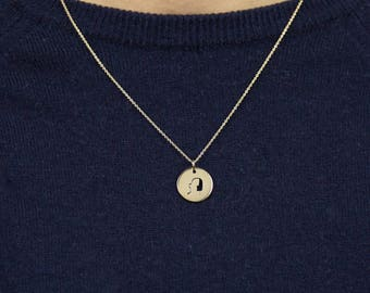 """""""Portrait"""" - gold Champagne - Hand-made Locket necklace"""
