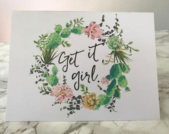 Get it, girl card