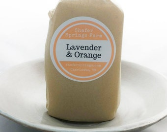 Lavender and Orange Soap - Handmade All Natural Soap - Cold Process Soap with Essential Oils - Shafer Springs Farm