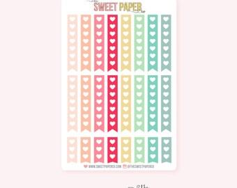 Heart Checklist Planner Stickers | DREAM BIG