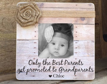Valentine's Day Sale Grandparents Frame Grandmother Grandfather Personalized Picture Frame Only the Best Parents Get promoted  Grandparents