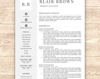 professional resume template free resume template resume template instant download resumes cover - Download Resume Templates