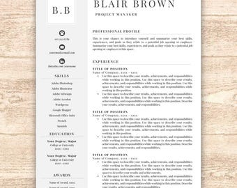 Sales Associate Resume Sample Excel Free Resume Template  Etsy Summary On A Resume Examples Pdf with Words To Describe Yourself On A Resume Excel Professional Resume Template Free Resume Template Resume Template Instant  Download Resumes Cover Create Resume Word