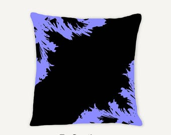 Purple - Birds Tree Abstract Reflections Decorative Indoor Throw Pillow 14x14 -  Purple (Cornflower) and Black