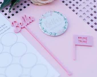 5x Personalised Acrylic Drink Stirrers
