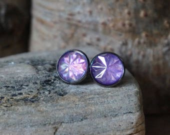 "Earrings ""purple mandala"""