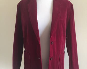 Vintage 1970s Red/Burgundy Blazer - Size Large