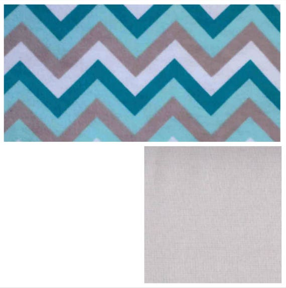 Teal Gray Chevron, Weighted Blanket, Cotton Flannel, Up to Twin Size, 3 to 20 Pounds, Adult Weighted Blanket, SPD, Autism, Calming Blanket