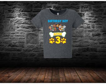 sale Paw Patrol Birthday Shirt , Paw Patrol Shirt -Raglan paw patrol inspired family birthday theme shirt/paw patrol party shirt/137-138.