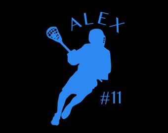 Lacrosse Decal - Lacrosse Player Decal - Lacrosse Car Decal - Lacrosse Window Decal - Sport Decal - Sports Sticker