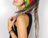 Hippie Dreadtube Batik, Dreadmütze, tie dye headband, winter headwear, dreadlocks, bun beanie