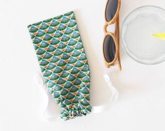 Glasses case , stylish case , eyeglasses case , sun glasses case , summer gift , green , christmas, back to shool, phone case, gift for him