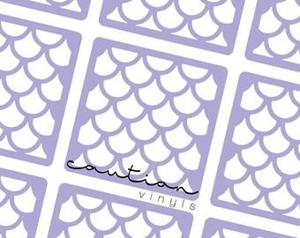 Mermaid Scales Nail Vinyl - Nail Stencil for Nail Art