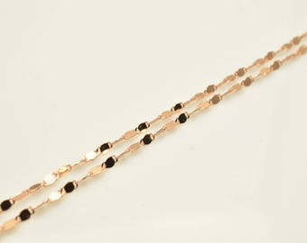 """18K Rose Gold Filled Chain 17.25"""" Inch CG213"""