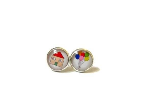 Boucles d 39 oreille enfants maison volante multicolore for Fenetre volante