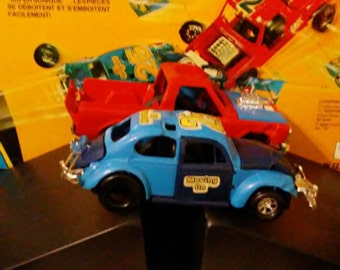 Vintage 1972 Kenner SSP Smash Up Derby Game with Buggem Beetle and Tough Tom Pick Up Truck!!!!