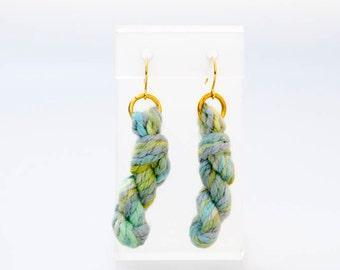 Spring Yarn Skein Earrings