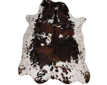 Hair on Cowhide - Hair on Hide Rug - Tricolour Cow hide Rugs