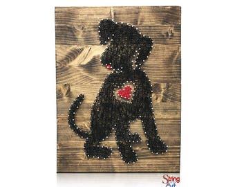 Sunflower string art kit diy kit adult crafts sunflower for Dog crafts for adults