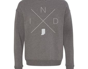 Indianapolis Sweatshirt - IND Home Sweater, Indiana Off Shoulder Sweatshirt
