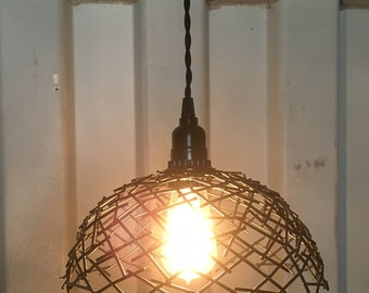 Edison bulb steel bird's nest swag lamp