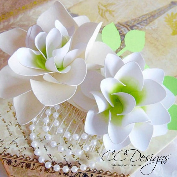 Diy paper lily flowers paper flower bridal bouquet svg cut files il570xn junglespirit Gallery