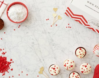 DIY Baking Kit for Valentine's Day Cupcakes