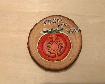 Cute Tomato Pun Badge