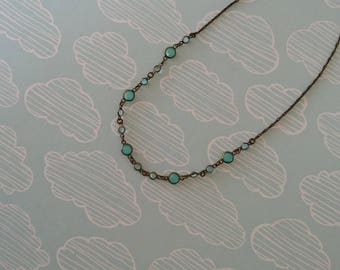 Beaded chain necklace - simple delicate necklace