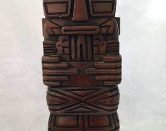 Vintage Hand Carved Wood Tiki Figure