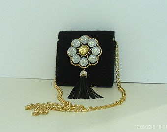 Gold silver and black coin bag