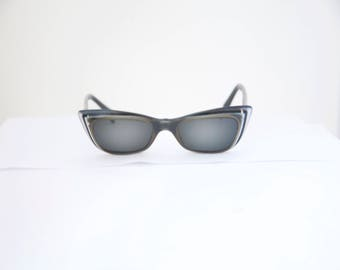 Cateye 1950s Sunglasses  OHH La La  / Made in IFrance/ with Case