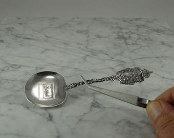 Sterling Silver Nut Spoon? French ? Quebec?