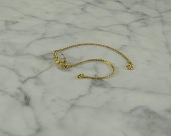 "14K Yellow Gold / Opal Bracelet (6.75"")"