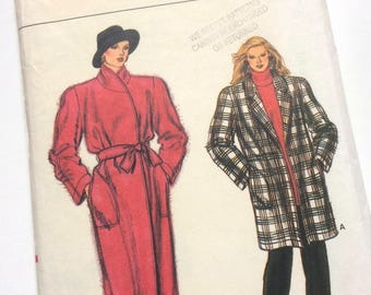 1970s/80s Vogue Coat & Jacket Sewing Pattern No. 9088 Modern Size 12/14