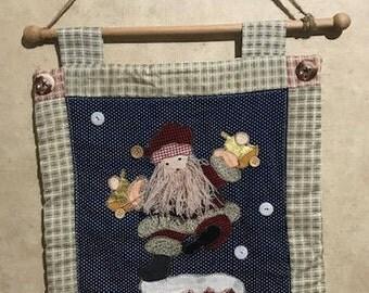 Small Vintage Tapestry Santa Claus Decor Holidays Decor
