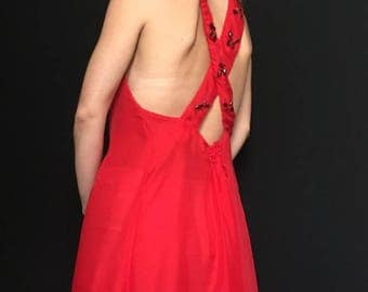 Feel Free Passion Red Dress with Stones
