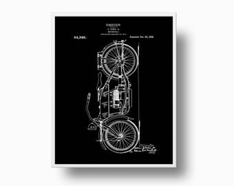 Patent Motorcycle Print, Ziska Motorcycle Patent, Modern Patent Wall Art, Motorcycle Wall Art, Motorcycle Instant Download Patent print