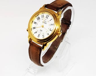 Gold Timex Watch, Timex indiglo Watch for her, Ladies Watch for ladies, Women's watch for women, Ladies timex watch, womens timex, very rare