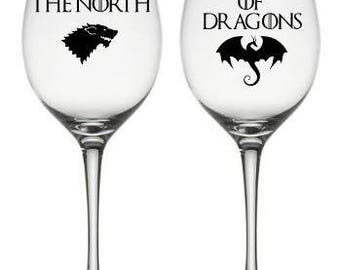 Lord and Lady Gift set, Game of Thrones Glass, Game of Thrones Gift, Game of Thrones Christmas Gift Idea,Game of Thrones Birthday Gift