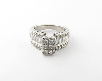 Vintage 14 Karat White Gold Diamond Ring Size 6.25 #2917