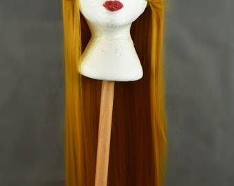 Golden Wig | Gold Wig | Straight Yellow Wig | Long Wig with high quality synthetic hair